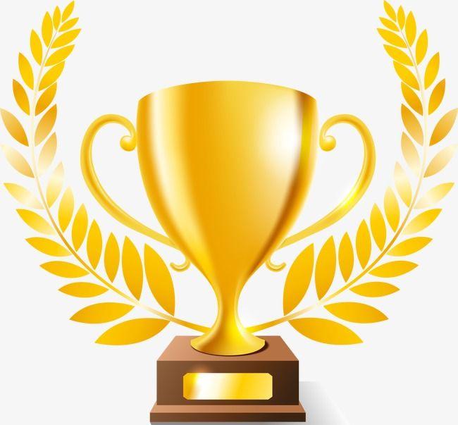 Golden Trophy, Cup, Achievement, Champion PNG Transparent.