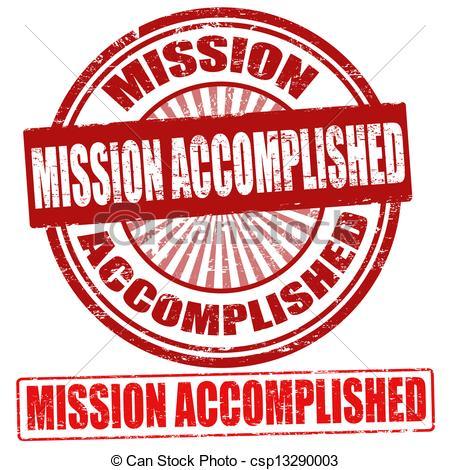 Mission Accomplished stamps.