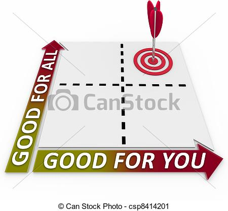 Clipart of Good for You and for All Matrix Choose Priorities.