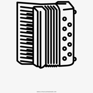 Accordion Coloring Page.