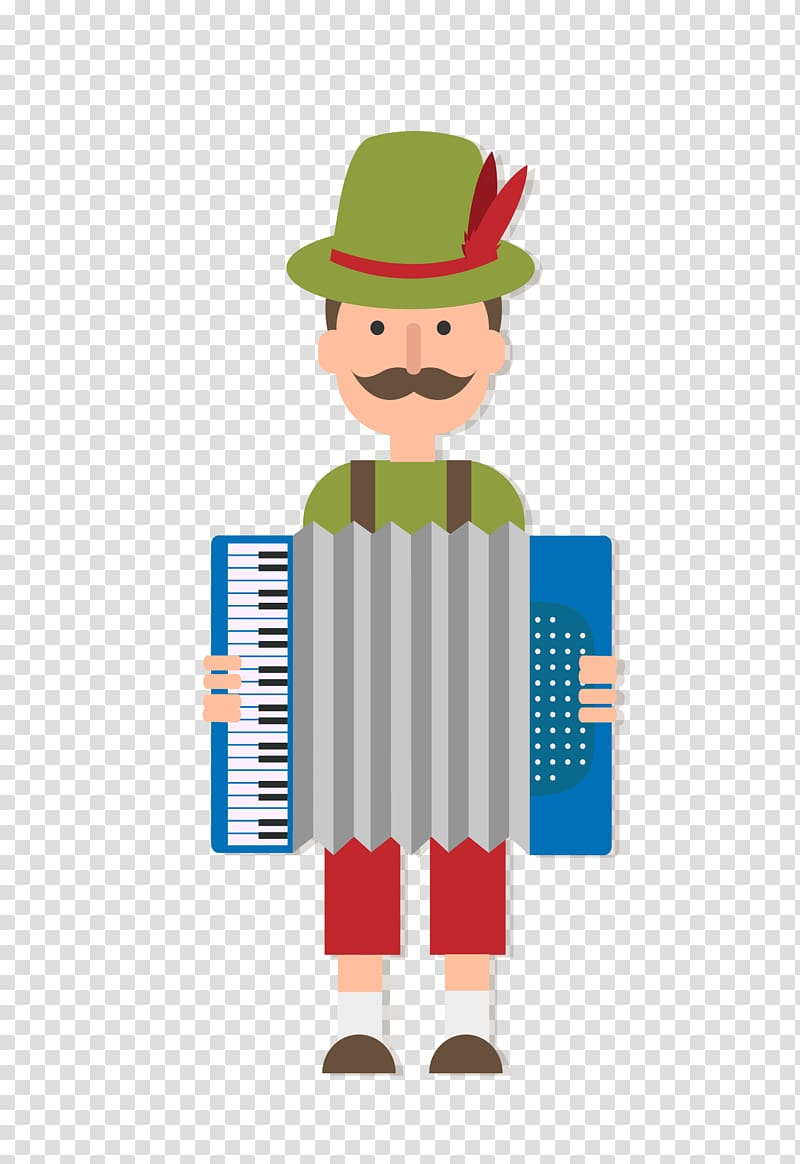 Oktoberfest Cartoon Accordion Euclidean , color cartoon.