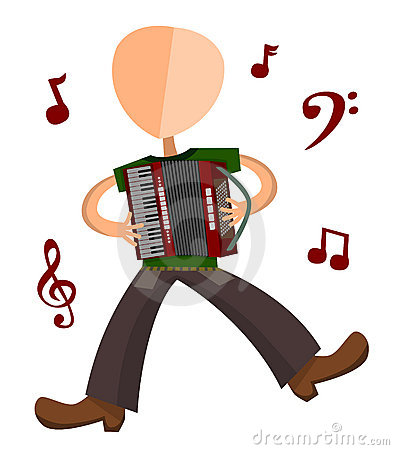 Accordion Player Stock Illustrations.