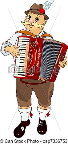 Vectors of Oktoberfest Accordion Player.