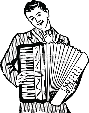 Accordion Player Vector Art.