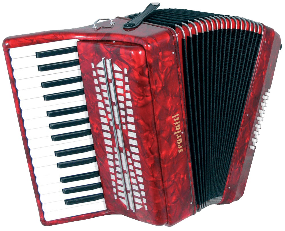 Accordion Bright Red transparent PNG.