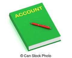 Account name on cover book Clip Art and Stock Illustrations. 11.