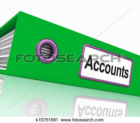 Stock Illustration of Accounts File Shows Accounting Profit And.