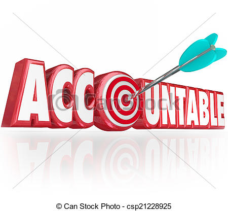 Picture of Time for Accountability Words Clock Take Responsibility.