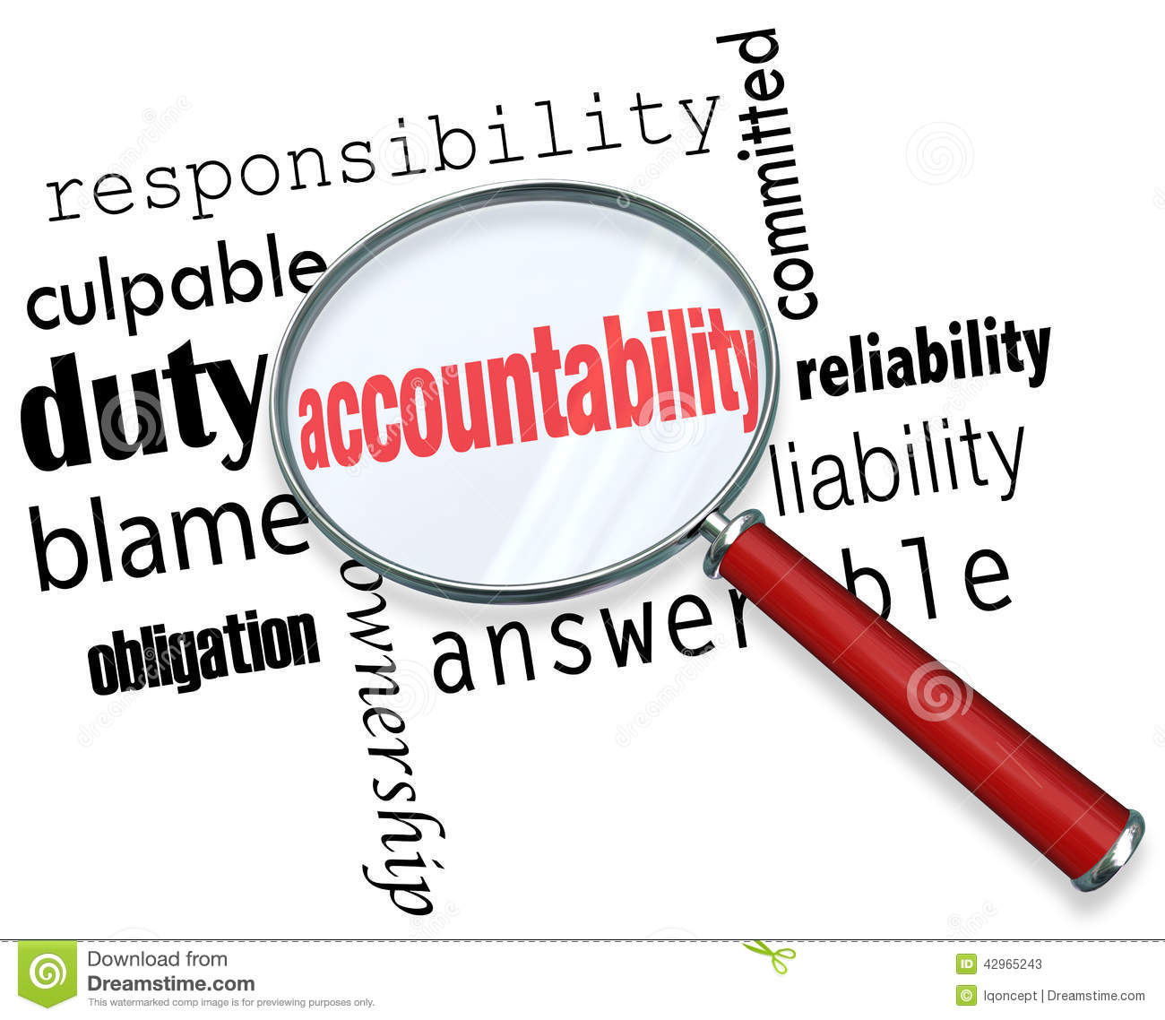 Accountability Stock Illustrations.