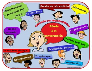 Accountable talk clipart.