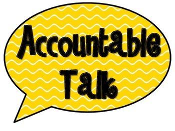 Accountable Talk.