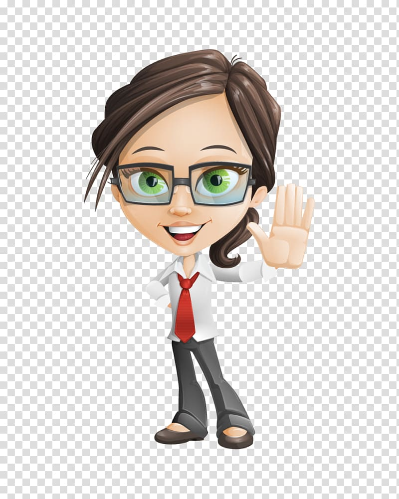 Cartoon Drawing Animation, accountant transparent background.