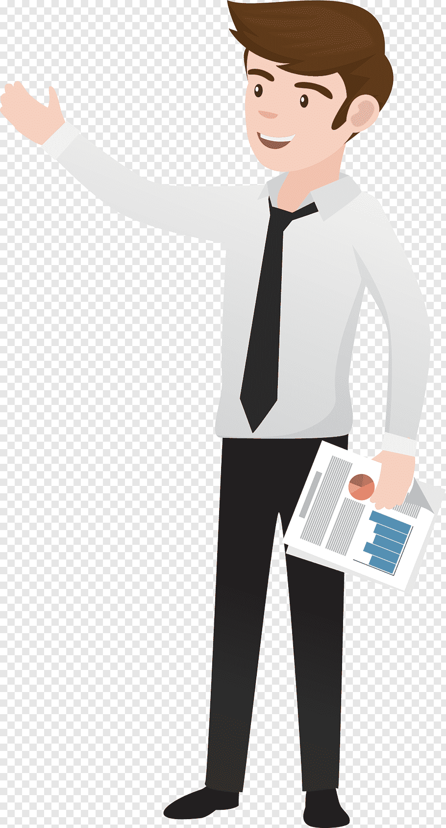 Man in white dress shirt, Kinh doanh Business Accounting.