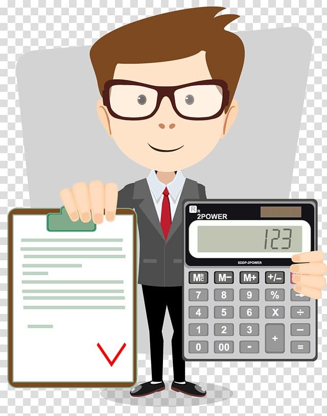 Man holding calculator , Accountant Accounting Cartoon, accounting.