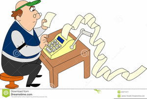 Animated Accountant Clipart.
