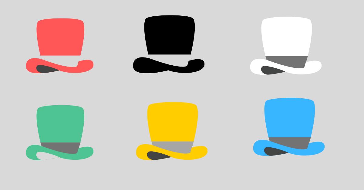 The Six Thinking Hats.