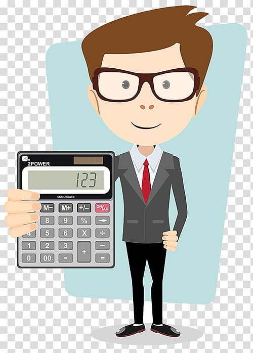Teacher Cartoon , accounting transparent background PNG.