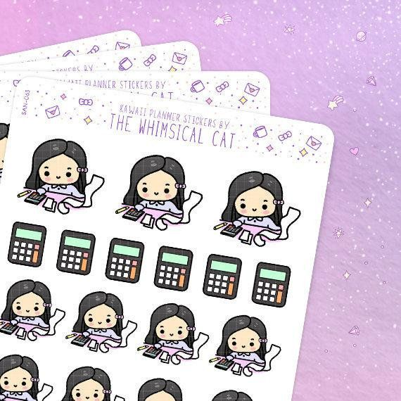 Accounting Planner Sticker, Accounting Stickers, Budgeting.