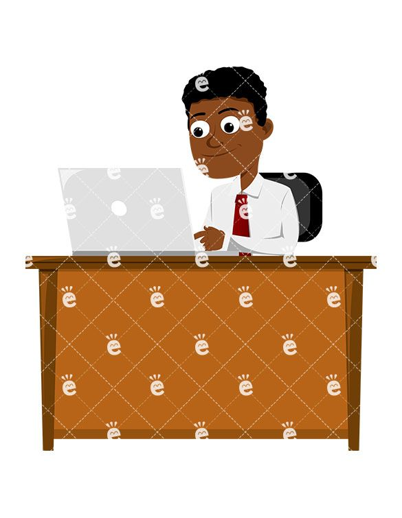 Pin on Black Businessman Clipart.