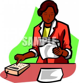 Female Accountant Clipart.