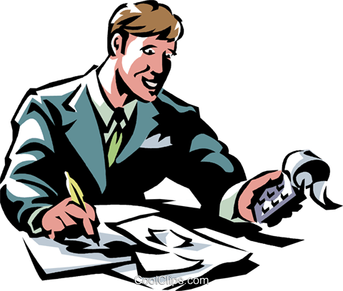 Bookkeeper Accounting Clip Art.