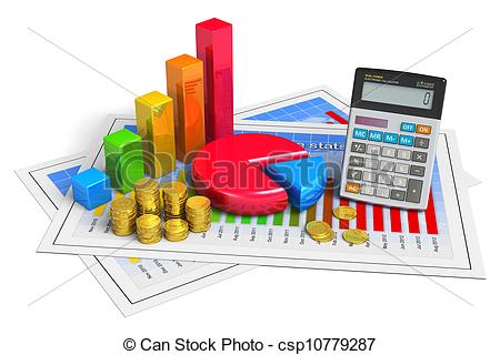 Stock Illustration of Financial success and accounting concept.