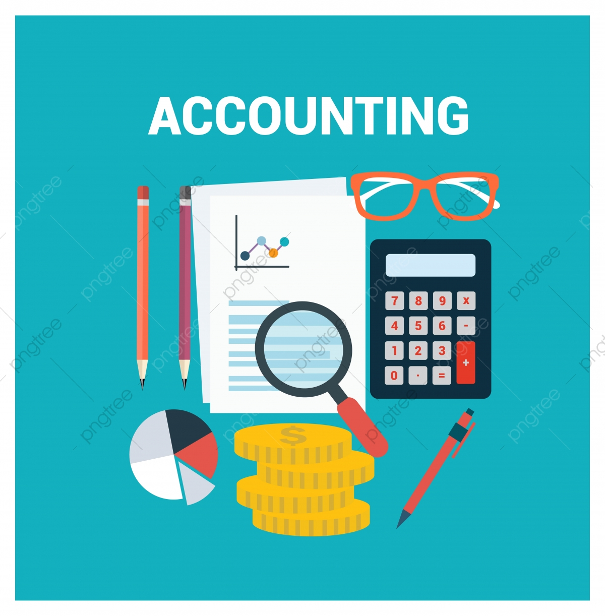 Accounting Icon Accounting Icon Template, 3d, Background, Banner PNG.