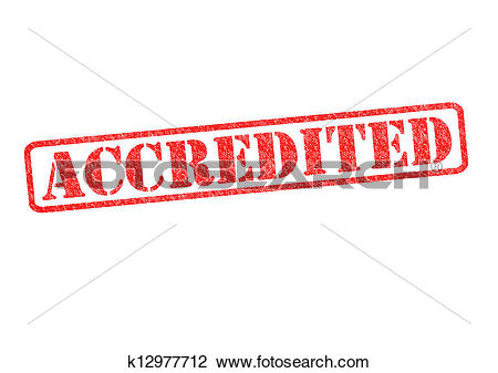 Clip Art of ACCREDITED Stamp k12977712.