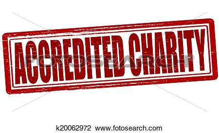 Clipart of Accredited charity k20062972.