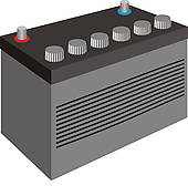 Clip Art of Car battery k13753388.