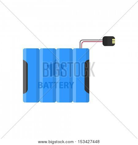 Battery flat colorful clipart isolated. Vector battery and.