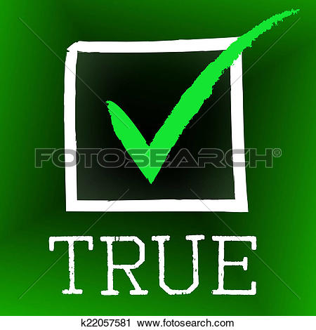 Clipart of Tick True Represents In Truth And Accurate k22057581.