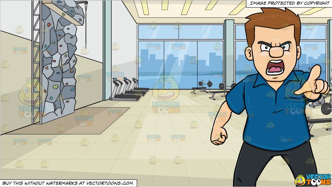 clipart #cartoon A Furious And Raged Man Accusing Someone.