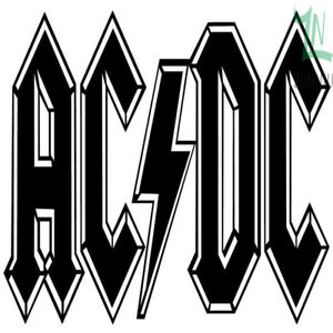 Details about ACDC Music Rock Band Vinyl Wall Room Logo Art Sticker Home  House Bedroom Decor.