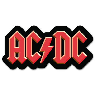 ACDC AC/DC rock band Vynil Car Sticker Decal.