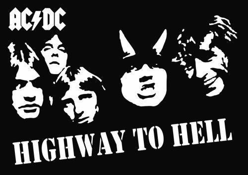 Ac dc highway to hell clipart.