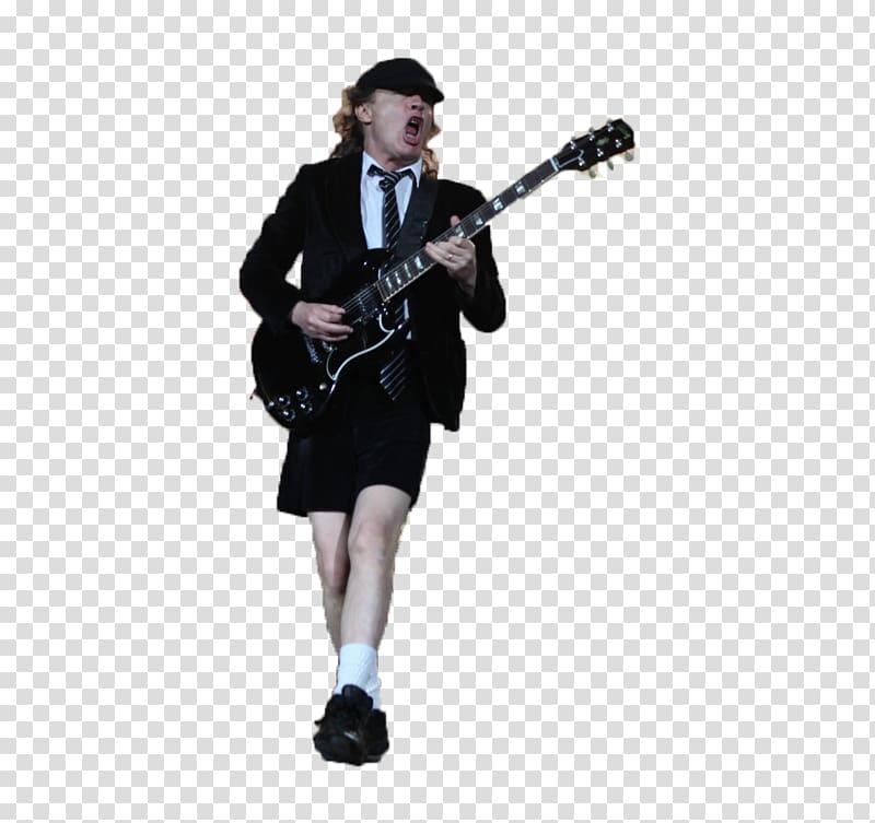 Guitarist AC/DC Riff Lead guitar, young transparent.