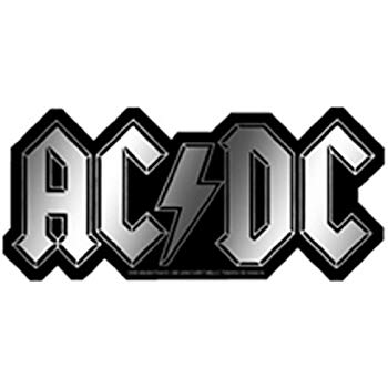 Licenses Products AC/DC Logo Sticker, Chrome.
