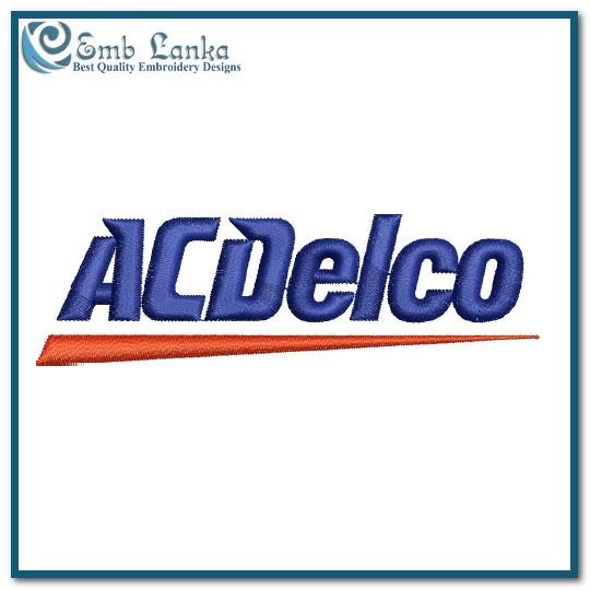 ACDelco Logo Embroidery Design.