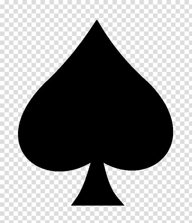 Black spade , Spades Suit Playing card Shovel, ace card transparent.