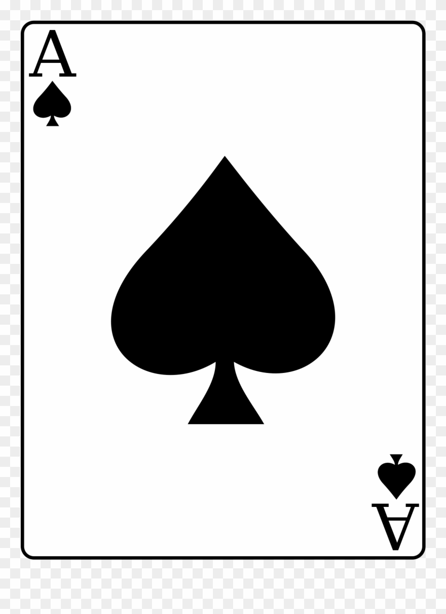 Ace Of Spades Card Png Clipart (#1677960).