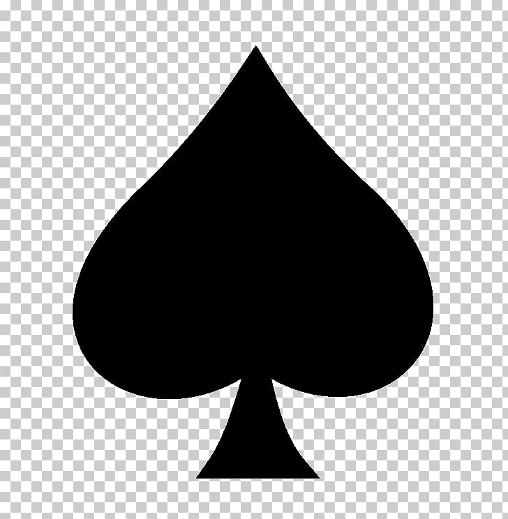 Spades Suit Playing card Shovel, ace card, black spade PNG.