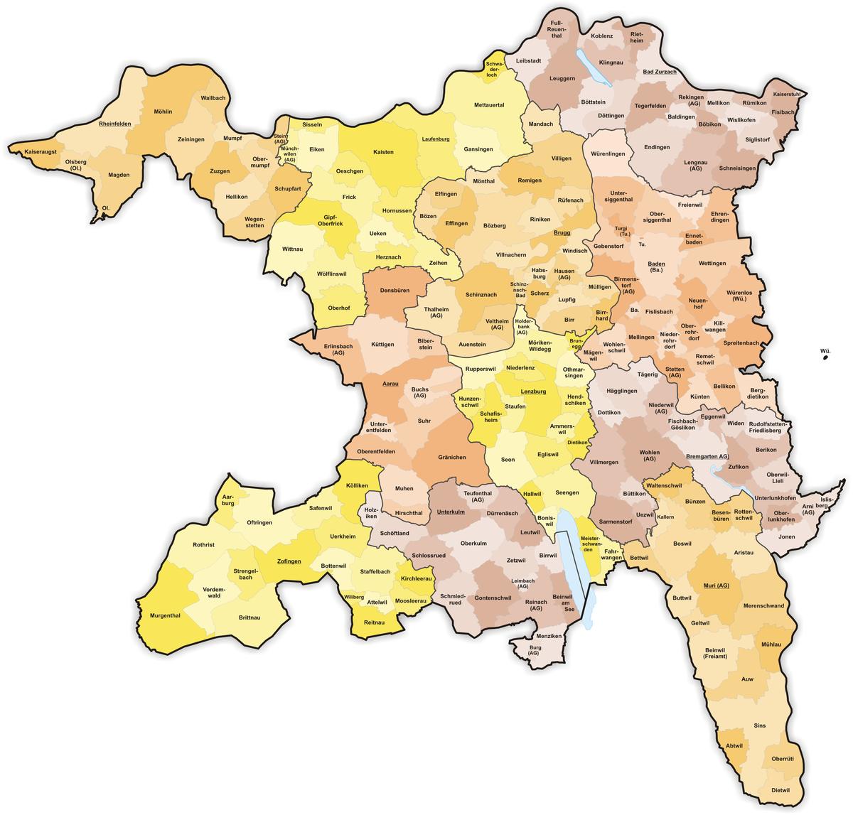 Communes du canton d'Argovie — Wikipédia.