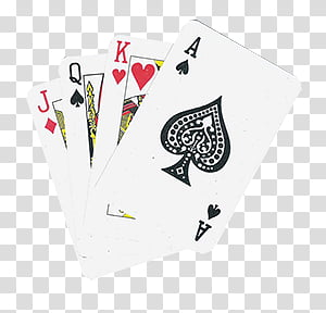 Jack of diamonds, Queen of spade, King of hearts, and space.