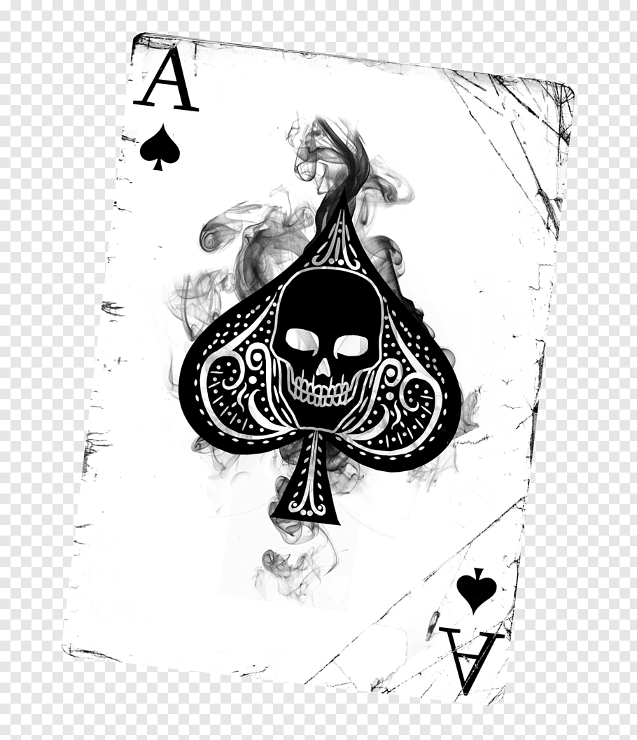 Ace of Clubs playing card, Ace of spades Playing card.