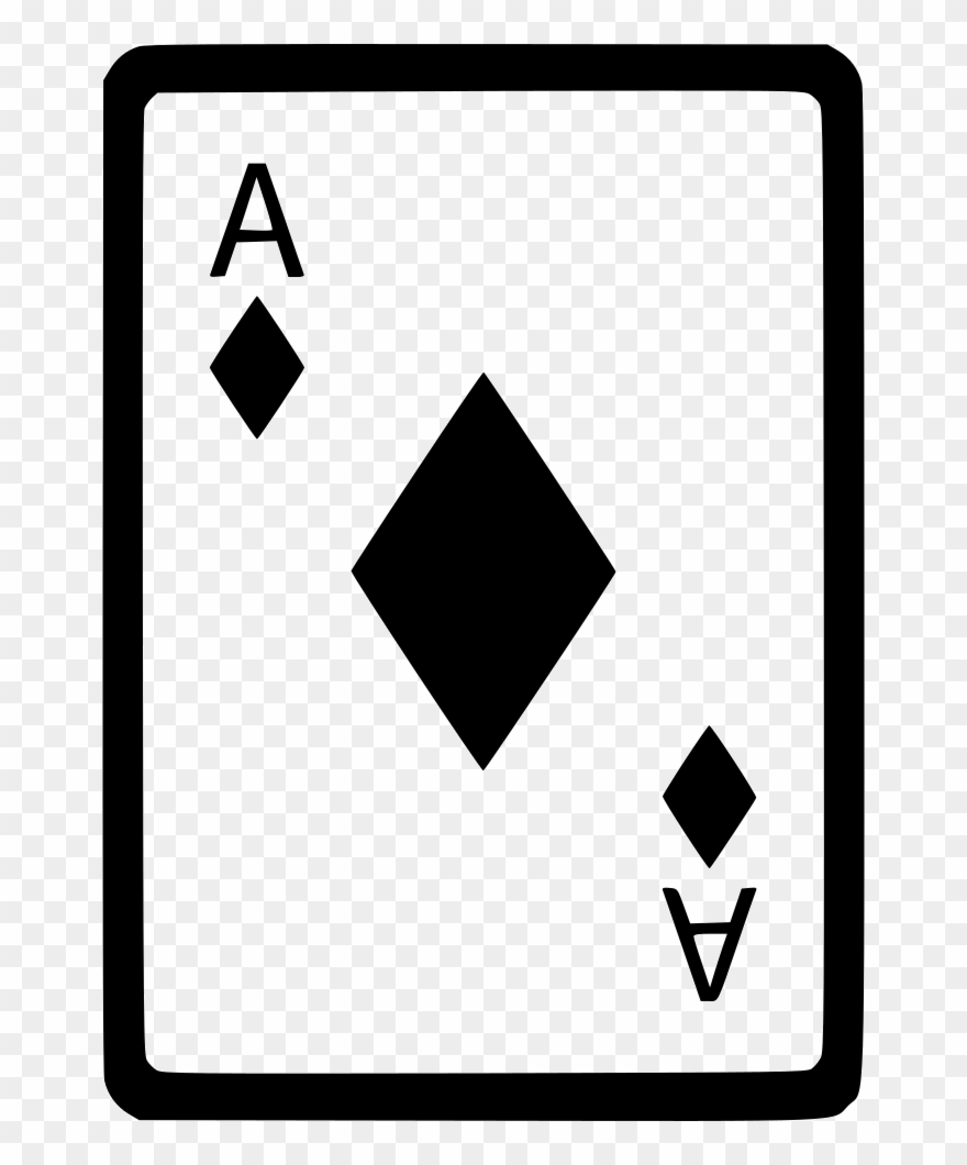 Ace Of Diamonds Card Poker Comments Clipart (#2227615.
