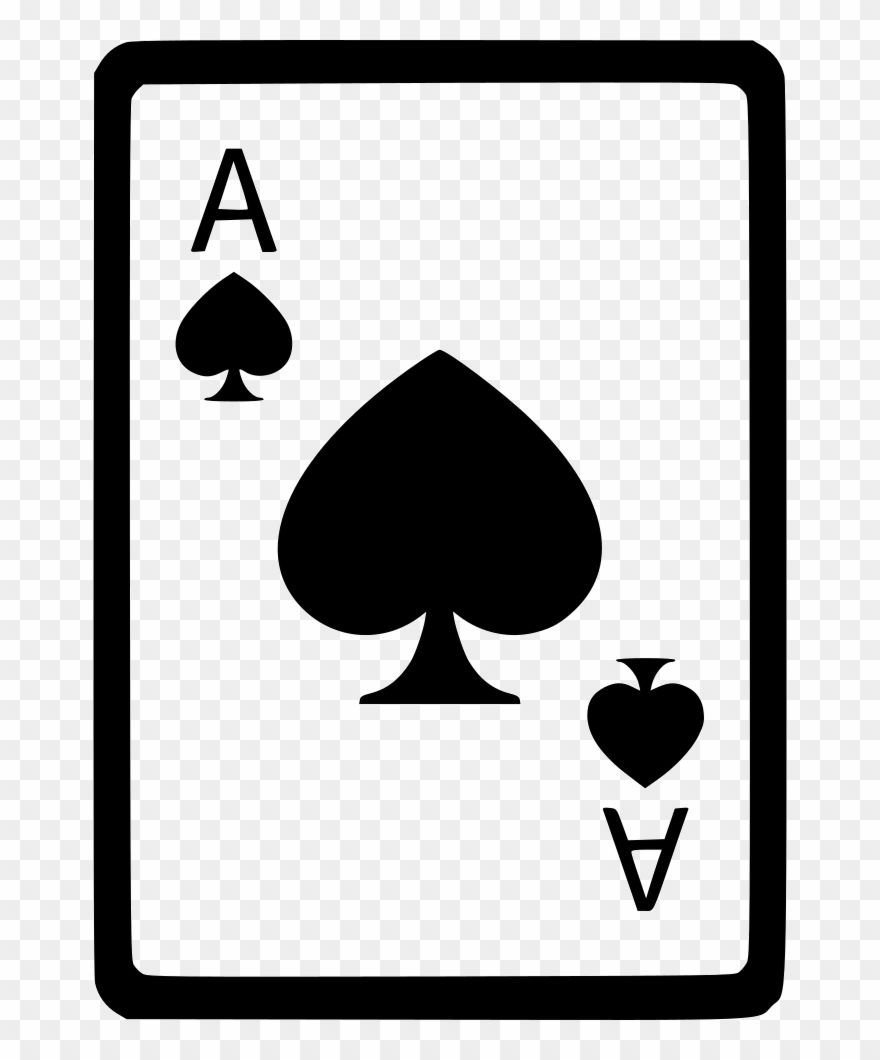 Ace Of Spades Card Poker Comments Clipart (#2268035).