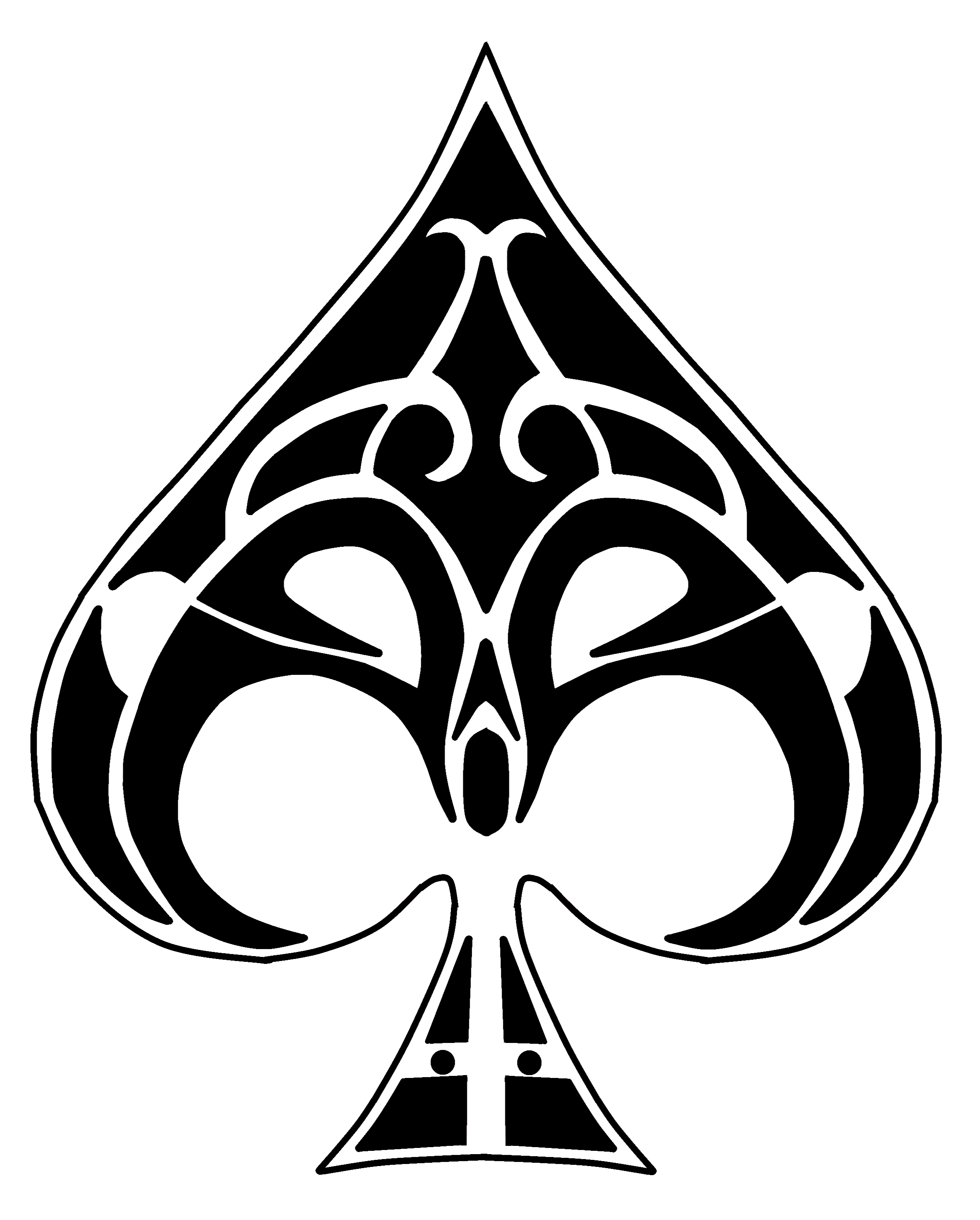 Ace Of Spades Drawing.