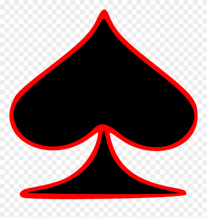 Free Clipart Outlined Spade Playing Card Symbol Gr8dan.
