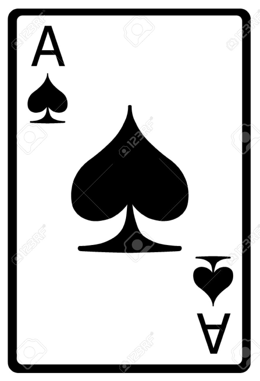 Ace of Spades Playing Card.